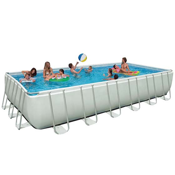 8. Intex 24Ft X 12Ft X 52In Ultra Frame Pool Set