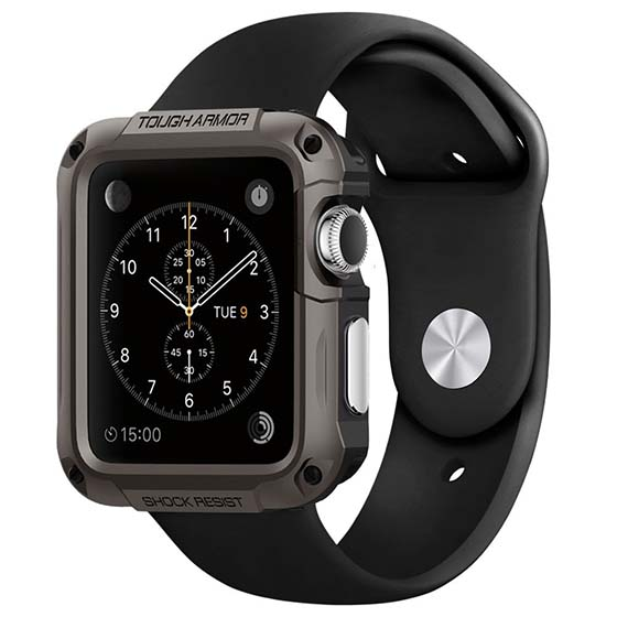 2. Apple Watch Case Spigen Built-In Screen Protector