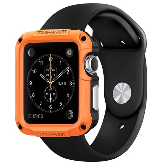 4. Apple Watch Case, Spigen Apple Watch 42mm Case Protective Tough Armor