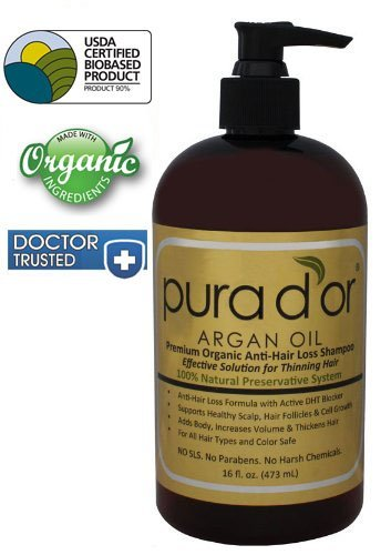 1. Pura d'or Premium Organic Anti-Hair Loss Shampoo
