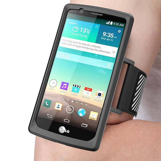 10. LG G4 Armband, SUPCASE Easy Fitting Sport Running Armband with Premium Flexible Case Combo for LG G4
