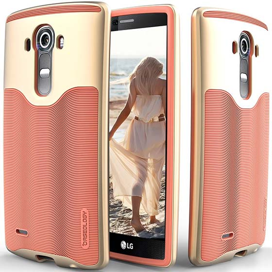 7. LG G4 case, Caseology Textured Pattern Grip Cove, best LG G4 Phone Accessories