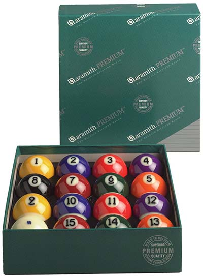 2. Aramith Premium 2 1/4-Inch Ball Set