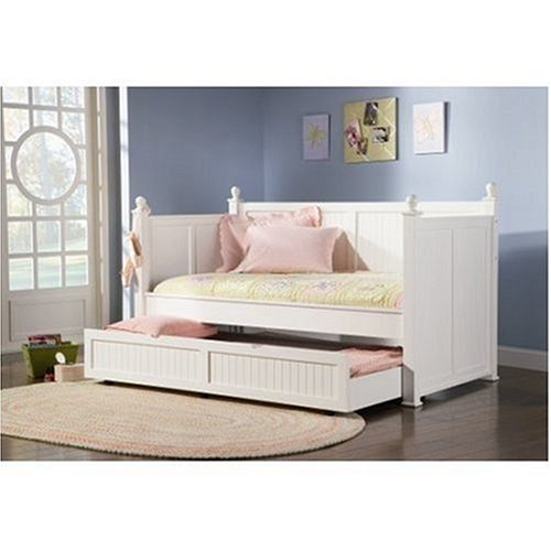 9. Coaster Fine Furniture 300026 Wood Daybed with Trundle, White Finish