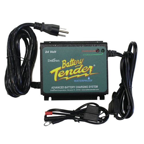 9. Battery Tender 022-0158-1 Waterproof 24 Volt Power Tender Plus Battery Charger