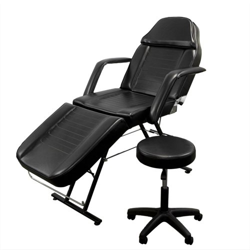 3. New Massage Table Bed Chair Beauty Barber Chair Facial Tattoo Chair Salon Equipment Includes Stool
