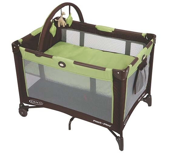 4.Graco Pack 'n Play On the Go Travel Playard, Go Green