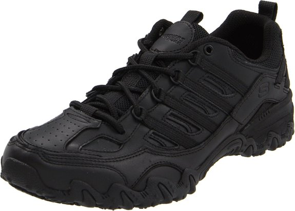 10. Skechers for Work Women's Compulsions Chant Lace-Up Work Shoe