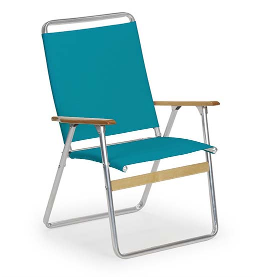 10. Telescope Casual Original Highback Folding Beach Arm Chair, Aqua