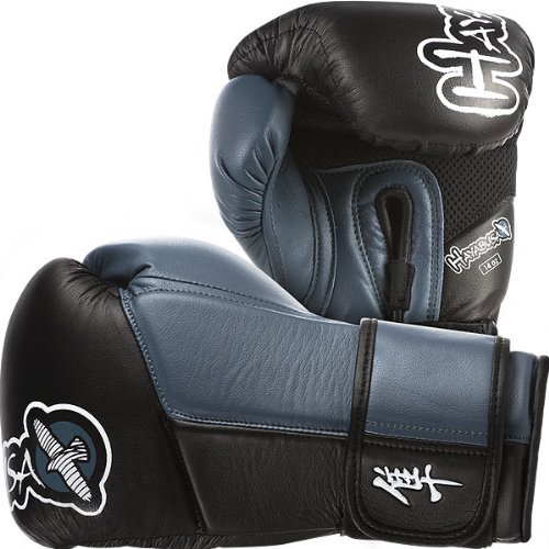 10. Hayabusa Official MMA Tokushu Gloves - Black/Steel Blue / 14 oz