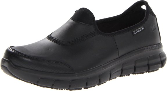1. Skechers for Work Women's Sure Track Slip Resistant Shoe