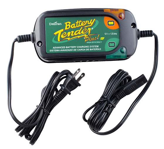 1. Battery Tender 022-0185G-dl-wh Black 12 Volt 1.25 Amp Plus Battery Charger/Maintainer