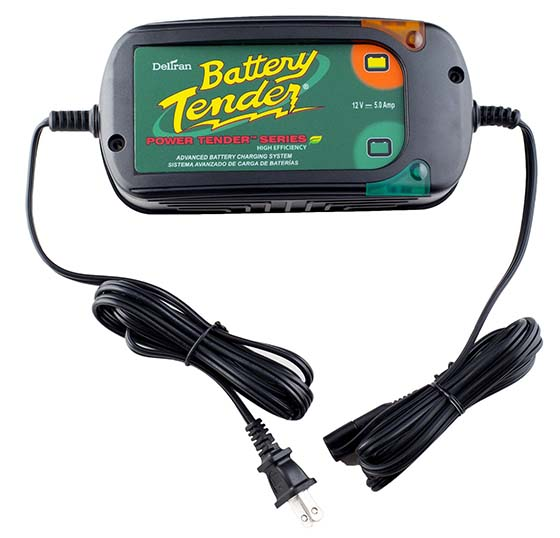 10. Battery Tender (022-0186G-DL-WH) 12V 5 Amp Battery Charger