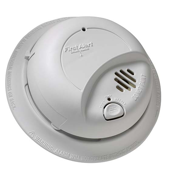 4. BRK Brands 9120B Hardwired Smoke Alarm with Battery Backup, Single Individual from Contractor Pack
