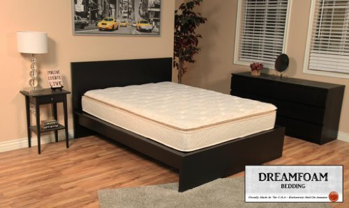 2. Dreamfoam Bedding Ultimate Dreams Crazy Quilt Pillow Top Mattress, Twin X-Long