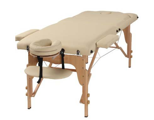 10. The Best Massage Table 3 Fold Cream Reiki Portable Massage Table - PU Leather High Quality