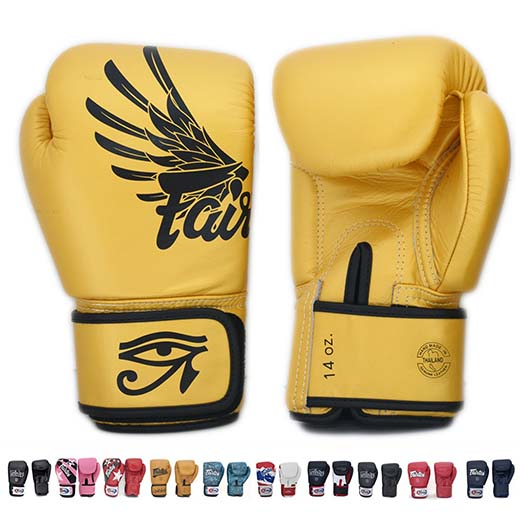 2. Fairtex Gloves Muay Thai Boxing Sparring Size 8, 10, 12, 14, 16
