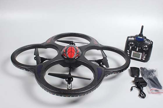 9. Ei-Hi S911C Huge 2.4GHz 6.5 Channel 6 Axis Gyro LED Light RC Quadcopter UFO with Camera