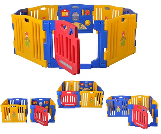 9. New Baby Playpen Kids 8 Panel Safety Play Center Yard Home Indoor Outdoor Pen