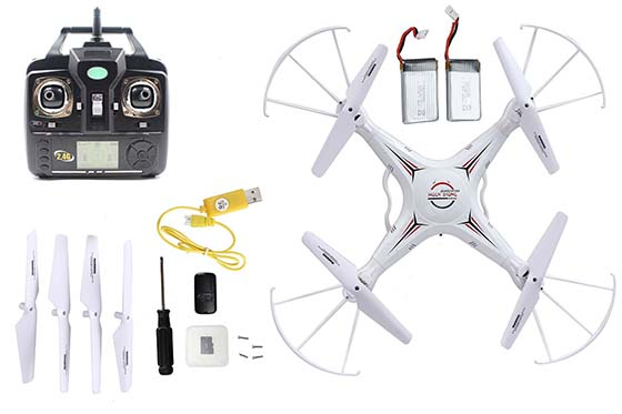 10. Holy Stone RC Quadcopter with 2MP Camera,4 CH 2.4GHz 6-Gyro, Remote Control Drone