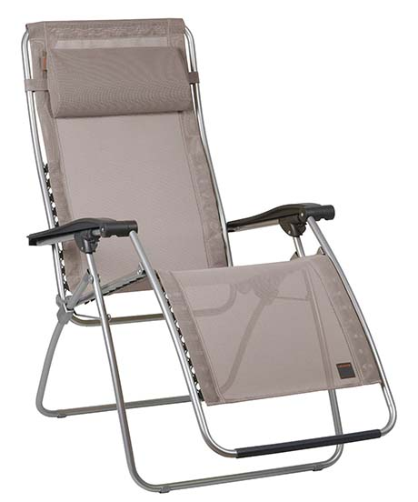 9. Lafuma LFM1794-6734 RSX Clip Zero Gravity Recliner - Grey Frame with Ecorce Iso Batyline Fabric