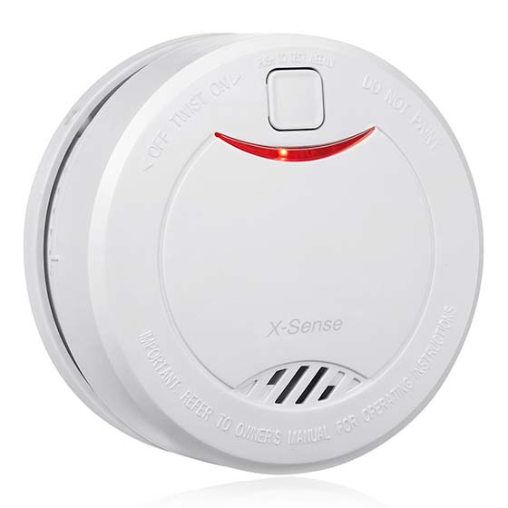 9. X-Sense DS32 10-Year Lifetime Smoke Detector Fire Alarm with Photoelectric Sensor