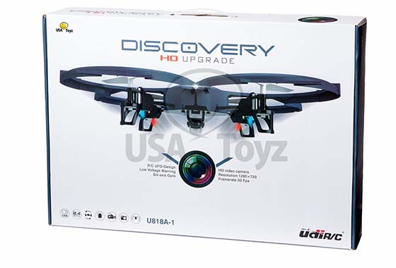 5. UDI U818A-1 Discovery 2.4GHz 4 CH 6 Axis Gyro RC Quadcopter with HD Camera RTF Includes BONUS BATTERY