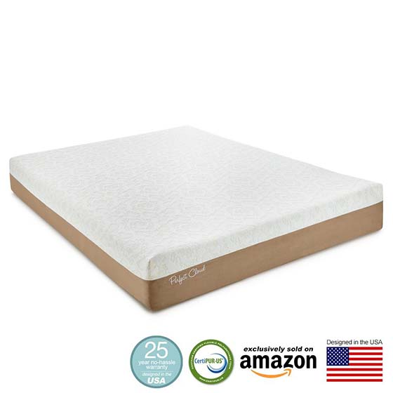 5. Perfect Cloud Atlas Gel-Plus 10-Inch Memory Foam Mattress (Cal King Size) – 2015