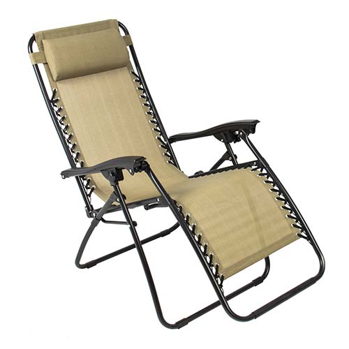 2. Best Choice Products Zero Gravity Chairs Tan Lounge Patio Chairs Folding Outdoor Yard Beach New
