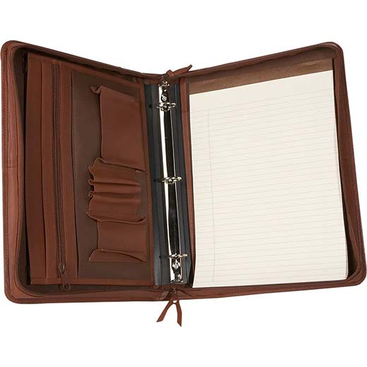 8. Royce Leather Deluxe Convertible Zip Around Binder / Padfolio