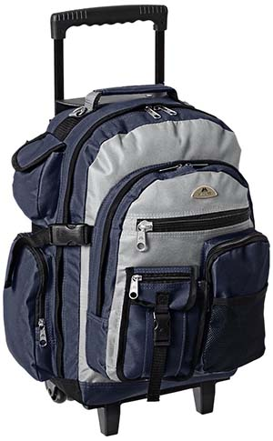 8. Everest Deluxe Wheeled Backpack