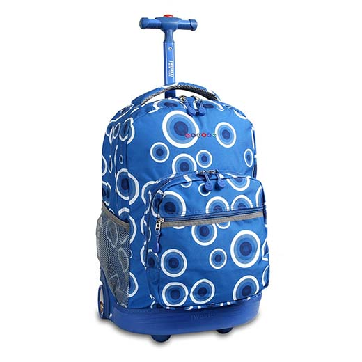 1. J World New York Sunrise Rolling Backpack