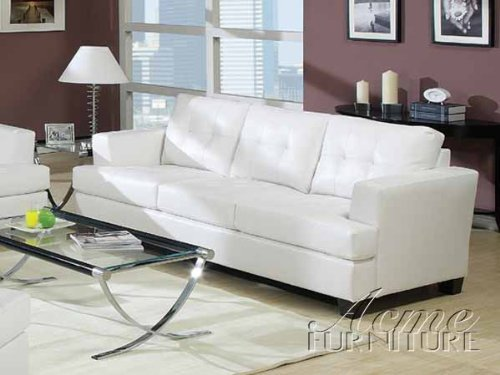 9. ACME Gives You Comfort In A White Bonded Leather Sofa