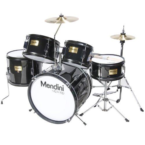8. Mendini MJDS-5-BL Complete 16 Inch 5 Piece Junior Drum Set