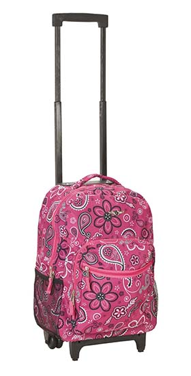3. Rockland Luggage 17 Inch Rolling Backpack