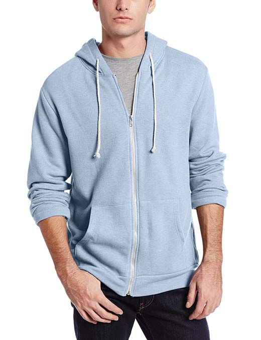 1. Threads 4 Thought Men's Triblend Zip-Front Hoodie Jacket