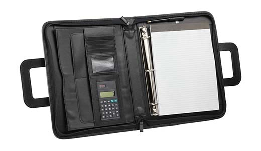 3. Professional Portfolio Padfolio Organizer File Divider with Calculator Notepad 3-Ring Binder