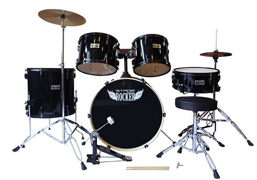 9. Stage Rocker 5Pc drum set with double-braced hardware