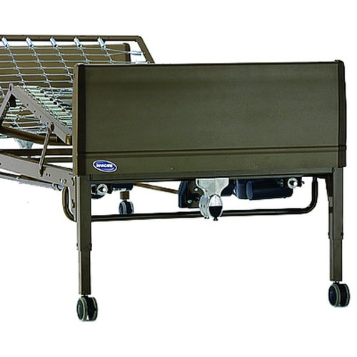 4. 15302BV-PKG - Drive Medical Full Electric Heavy Duty Bariatric Hospital Bed, with Mattress and 1 Set of T Rails
