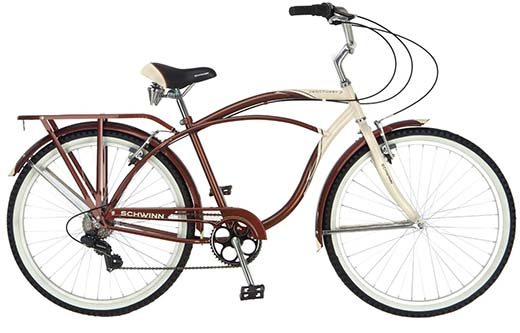 7. Schwinn Men's Sanctuary 7-Speed Cruiser Bicycle (26-Inch Wheels), Cream/Copper