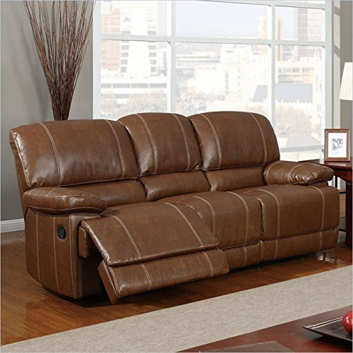 2. Global Furniture Bonded Leather Reclining Sofa, U9963