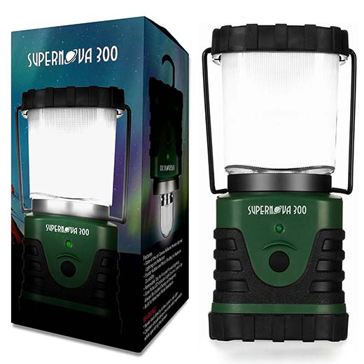 6. Supernova Ultra Bright LED Lantern - The Best LED Lantern for Camping, Hiking or Any Type of Emergency - Battery Powered Ultra Long Lasting