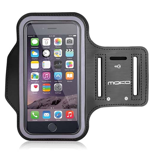 3. MoKo Sports Armband for Apple iPhone 6 4.7 & Samsung Galaxy S6 / S6 Edge 5.1 inch
