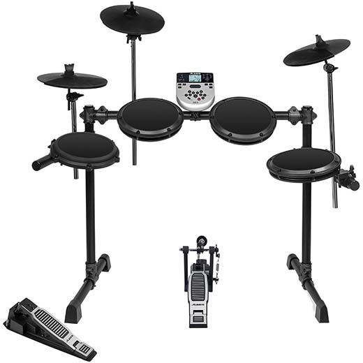 6. Alesis DM7X Session Kit Five-Piece Ultra-Compact Electronic Drum Set