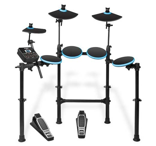 2. Alesis DM Lite Kit 5-Piece Electronic Drum Set with Collapsible 4-Post Rack