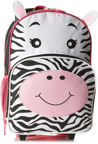 7. Trailmaker Big Girls' Zebra Rolling Backpack, Multi, One Size
