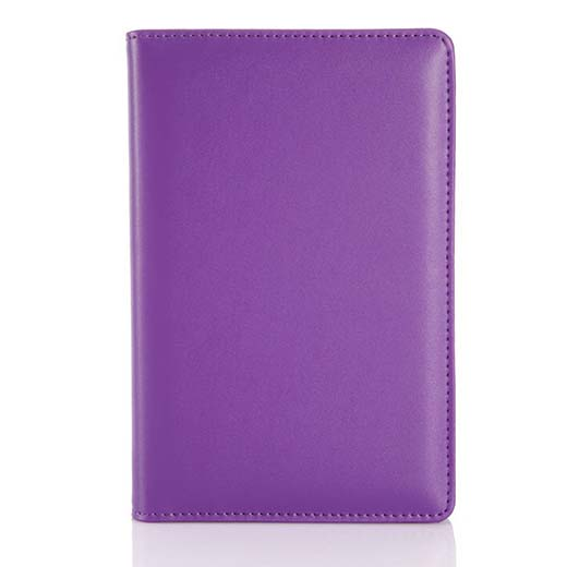 10. Richblue Elegant Waterproof PU Leather Cover Note Book Portfolio + Ring Binder + 90 Paper Sheets A6 (Purple)