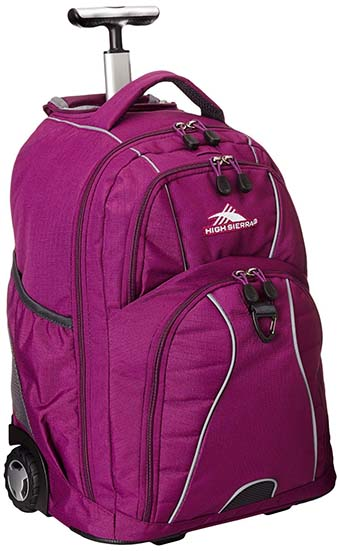 4. High Sierra Freewheel Wheeled Book Bag Backpack