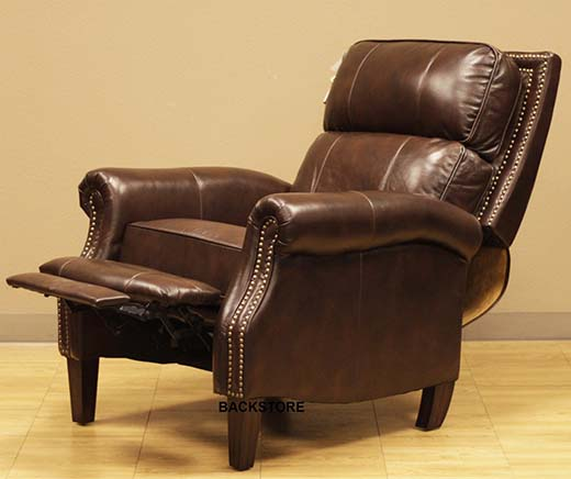10.Barcalounger Oxford II Recliner Lounger Chair Canyon Remy Chocolate Leather