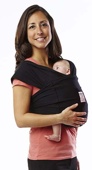 3. Baby K'tan ORIGINAL Baby Carrier, Black, Small